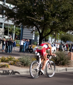 On her way to breaking the Ironman record at Arizona in 2010.