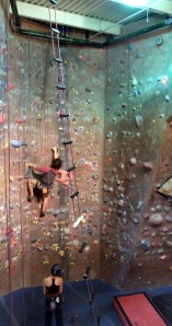 I climbed the wall face to the right of the guy climbing!