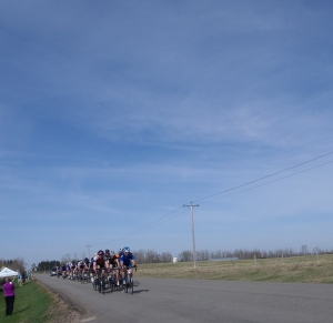 First lap of the road race