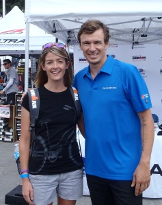 Meeting triathlon legend Simon Whitfield!