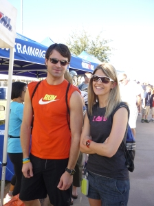 Pre Ironman Arizona 2010 - probably the most nervous I've ever been