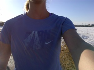 Running in a t-shirt in March!!