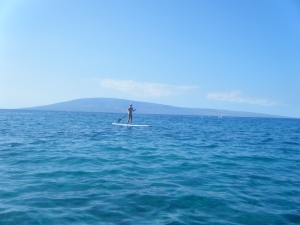 SUPing in Maui