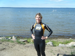 Before our first open water swim!
